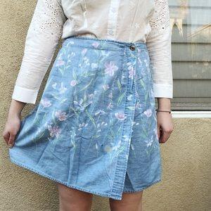 Vintage floral wrap shorts